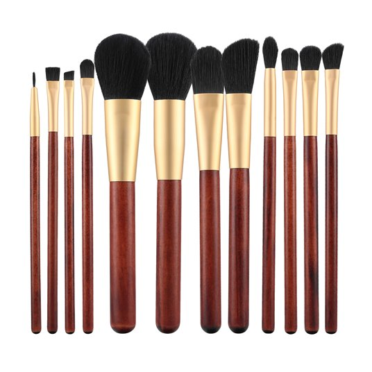 MAKE UP BRUSH WOODEN 12 PCS